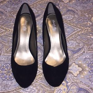 Charlotte Russe Black faux suede pumps